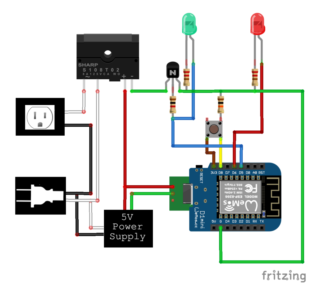 Wiring diagram for a DIY automated dust-collector switch