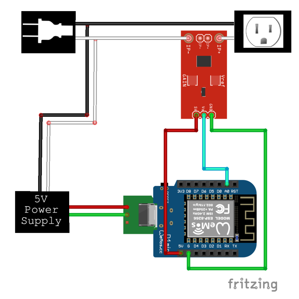 Wiring diagram for the power tool side of a DIY automated dust-collector switch